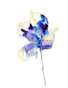 love flowers watercolor