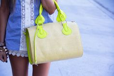 Lace detail is a must this spring! A neon fashion blog #SMPliving