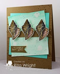 Rita's Creations: Stamp Review Crew By the Tide Edition