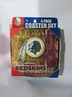 3bb288369 NFL Washington Redskins Logo on Reflections Thick Paper Coasters 6 Pack