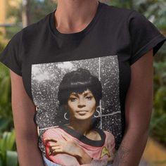Nichelle Nichols Shirt - Star Trek Inspired Tee-The Trini Gee Black Actresses, Black Actors, Black Celebrities, Star Trek Shirt, Black Tv Shows, Nichelle Nichols, Culture Shirt, Hollywood, Tees