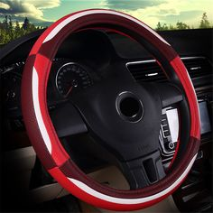 NewLove Universal Fits Most Car Styling Steering Wheel Non Slip Four Seasons Fashion Sport Leather Car Steering Wheel Cover -- Awesome products selected by Anna Churchill