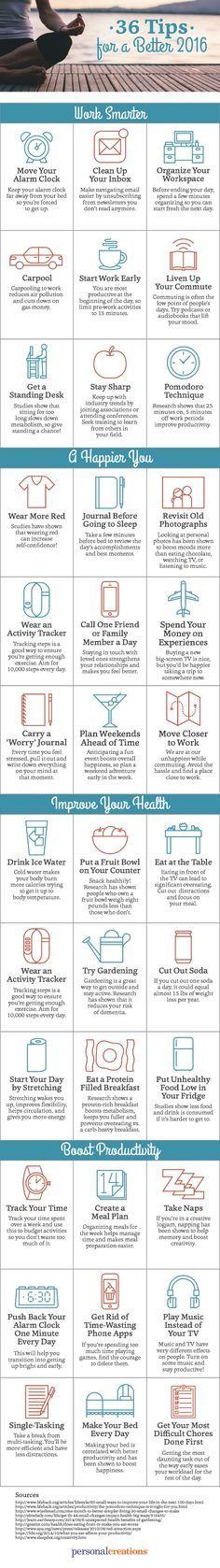 36 self-improvement tips for a better 2016