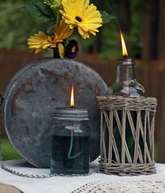 Make an Oil Lamp - 22 Fun And Amazing DIY Projects From Old Jars