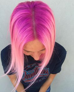 Rooted Pink Perfection // @hairycatt #pravana #pinkhair #coloredroots