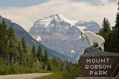 British Columbia.  'Mount Robson' by fuerst, via Flickr.  Mount Robson is the most prominent mountain in North America's Rocky Mountain range; it is also the highest point in the Canadian Rockies. The mountain is located entirely within Mount Robson Provincial Park of British Columbia, and is part of the Rainbow Range. It is commonly thought to be the highest point in B.C., but that distinction is held by Mount Fairweather at 4,663 m (15,299 ft).