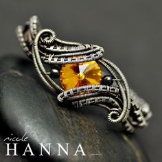 Sunflower Garden Two Finger Ring from Nicole Hanna Jewelry