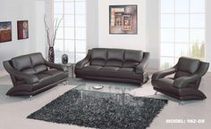 $1192 2 PC Black Sofa Set with Metal Legs (Sofa and Loveseat) by ...