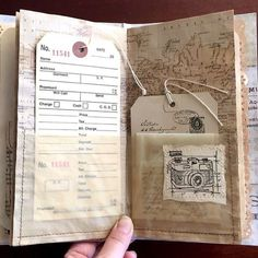 What a wonderful way to make a journal. #junkjournal
