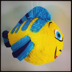 Flounder piñata from the little mermaid www.pinataspinatas.com The Little Mermaid, Outdoor Decor, Kids, Party Ideas, Home Decor, Character, Young Children, Boys, Decoration Home