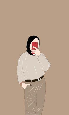 Cover Wattpad, Hijab Drawing, Islamic Cartoon, Pop Art Wallpaper, Anime Muslim, Hijab Cartoon, Illustration Art, Illustrations, Digital Art Girl
