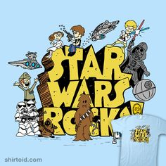 Awesome 'Star+Wars+Rocks' design on TeePublic! Star Wars Art, Star Trek, Star Wars Classroom, Star Wars Personajes, Star War 3, The Force Is Strong, Star Wars Humor, Love Stars, Tecno