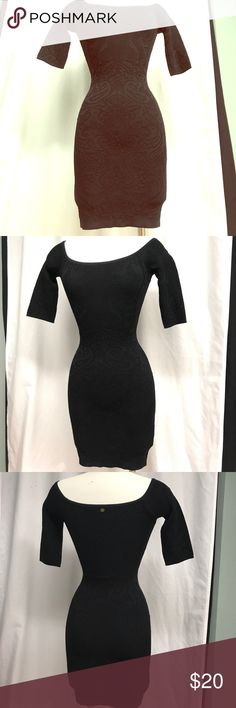 Guess Bodycon Dress Beautiful and sexy! Black Bodycon dress from Guess. Worn once. Beautiful details! Guess Dresses Mini