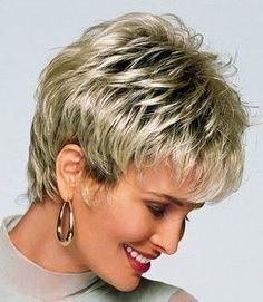 Choppy Hairstyles Women and Girls Choppy Hair Styles Short Choppy Hair, Short Shag Hairstyles, Hairstyles Over 50, Short Hairstyles For Women, Cool Hairstyles, Short Haircuts, Short Pixie, Pixie Cuts, Hairstyle Short