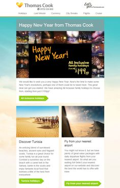 thomas cook new year email