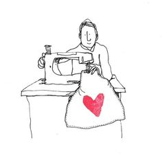 The Secret Life of Love. Day #213. #astitchintime #sewing #illustration #sketchaday #sketch