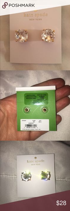 Kate Spade Brand New Earrings Brand new, never used pair of Kate Spade Gumdrop studs! Very beautiful! ❤️ kate spade Jewelry Earrings