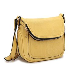 New Trending Cross Body Bags: Dasein Fashion Womens Cross Body Messenger Bag Convertible Shoulder Bag with Folded Front Flap (Yellow). Dasein Fashion Women's Cross Body Messenger Bag Convertible Shoulder Bag with Folded Front Flap (Yellow)  Special Offer: $26.49  111 Reviews About This Bag • This Dasein briefcase satchel measures 8″W x 6.7″H x 4.0″D inches. We suggest comparing it to a bag you...