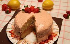 Pastel de fresa y limón