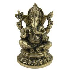 Amazon.com: Statue of Ganesh Hindu Religious Sculptures Brass 5.25 X 5.25 X 8 Inches: Furniture & Decor