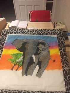 Elephant cushion cover :Session 4 Elephant Cushion, Cushion Covers, Cushions, Rugs, Crafty, Home Decor, Farmhouse Rugs, Homemade Home Decor, Toss Pillows