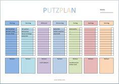 Putzplan Haushalt Vorlage PDF