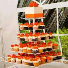 Cupcake bar and ceremony cake
