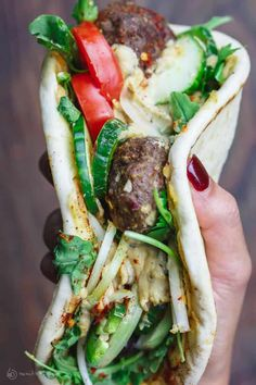 Baked Kofta Pita Sandwich, Turkish Style | The Mediterranean Dish Lebanese Recipes, Turkish Recipes, Greek Recipes, Ethnic Recipes, Romanian Recipes, Scottish Recipes, Lunch Recipes, Dinner Recipes, Cooking Recipes