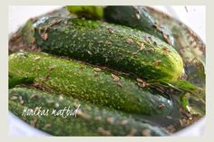 Preserving Food, Lchf, Preserves, Pickles, Cucumber, Food And Drink, Canning, Vegetables, Recipes