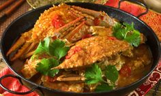 Street Food Around The World | Rough Guides _ pictured : Chili Crab, Singapore street food.