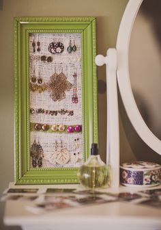 earring organizer, which is nice but I mainly LOVE that frame's paint color.