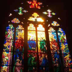 The Joyful Traditionalist: Photo Gothic Architecture, Prague, Joy, Twitter, Stained Glass, Colors, Glee, Being Happy, Happiness