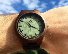 Mens Wood Watch With Custom Engraving Wooden Watch Dark by axMen