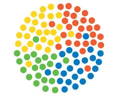 great use of circles and circles of color