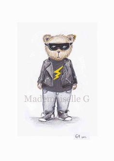 NEW The Rock star Teddy by MademoiselleG on Etsy