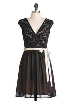 {Champagne at Midnight Dress} I love how delicate this one looks ... a cross of innocent, but with a sexy low cut.
