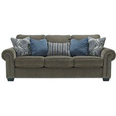 Navasota Sofa ❤ liked on Polyvore featuring home, furniture, sofas, charcoal grey couch, charcoal couch, dark grey couch, dark gray sofa and charcoal gray sofa