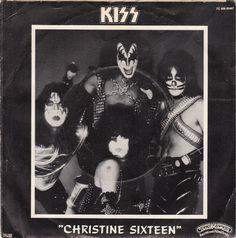 kiss 45 records | kiss christine sixteen simmons kiss eddie kramer rate b kiss shock ...