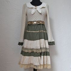 upcycled clothing . dress . please mr postman by pondhopper