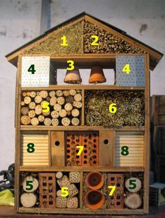 "6 things cool things to have in your garden for kids this summer! - Toby and Roo - Hotel de insectos. Cada ""habitación"" de este hotel atrae a un tipo de insecto, todos muy útil - Garden Crafts, Garden Projects, Diy Projects, Insect Crafts, Insect Art, Garden Fun, Diy Garden Toys, Garden Ideas Kids, Garden Care"