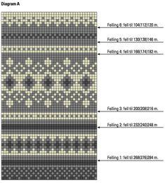 Damegenser med rundfelling i Østlandsgarn Knitting Charts, Knitting Socks, Knitting Patterns, Shibori, Fair Isle Chart, Fair Isle Knitting, Pattern Library, Fair Isles, Couture