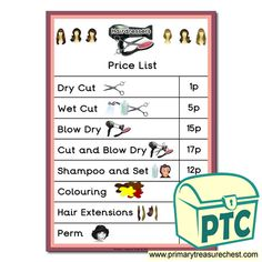 Hairdressers Role Play Resources - Primary Treasure Chest Teaching Activities, Teaching Ideas, Ourselves Topic, Hairdressers, Role Play, Treasure Chest, Crafts For Kids, Children