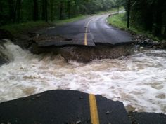 """Nature carves a path~ Nat Geo Sept 2012 issue entitled """"Weather Gone Wild,"""""""