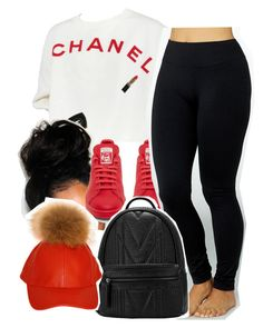 """""""Untitled #1332"""" by queen-tiller ❤ liked on Polyvore featuring Chanel, adidas and Yummie by Heather Thomson"""
