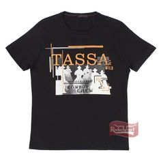 Camiseta Masculina Regular Preta 100% Algodão - Tassa 15482 - RodeoWest
