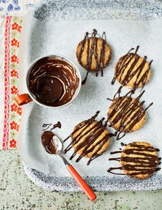 Apricot and almond bumbles with dark chocolate drizzle - ready to eat in 35 minutes