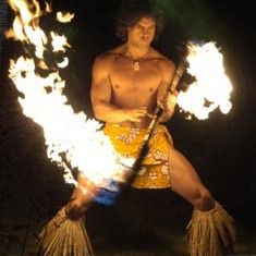 Samoan fire knife dance by Flick Happy2012, via Flickr