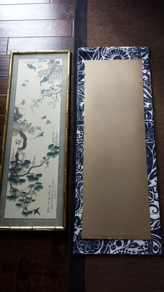 Diy indigo wall art with framed fabric indigo walls fabrics and walls diy indigo wall art with framed fabric solutioingenieria Images