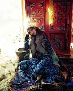 "The Terrier and Lobster: ""Mongolian Winter"" in Vogue Girl Korea December 2013"