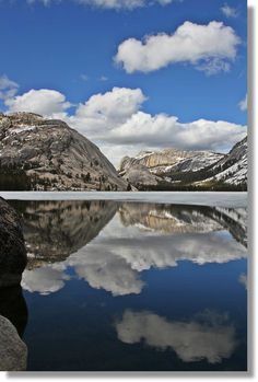 Tenaya Lake, Yosemite National Park, partially covered in ice in early June